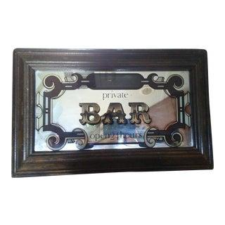 Art Deco Style Bar Sign