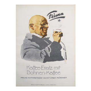 Original German Coffee Poster, 1926, Feima