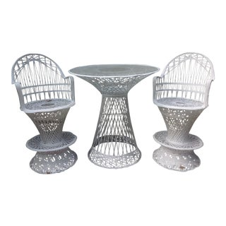 Woodard Spun Fiberglass Dining Patio Set