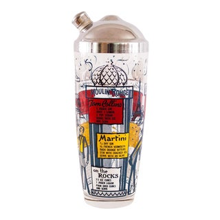 Parisian Themed Cocktail Shaker