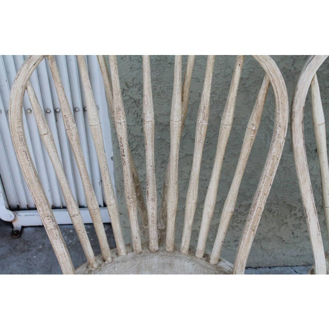 Pair of 19th Century White Painted Windsor Chairs - Image 5 of 8