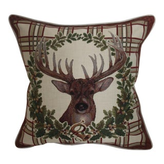 Deer Tapestry Pillow