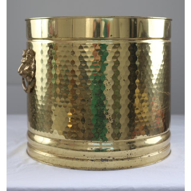 Large Neo Classical Brass Planter - Lion's Heads - Image 5 of 5