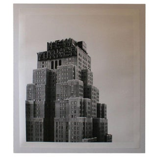 Large Scale New Yorker Hotel Building B & W Print