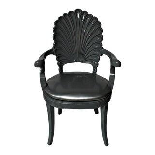 Silver Shell Armchair