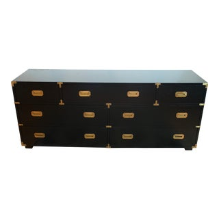 Lane Vintage Black Campaign Chest