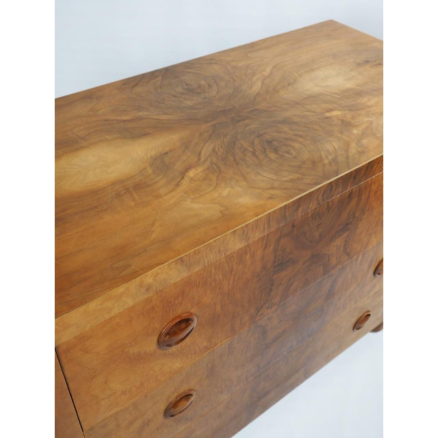 1930s Vintage Beeswing Maple Lowboy - Image 4 of 4