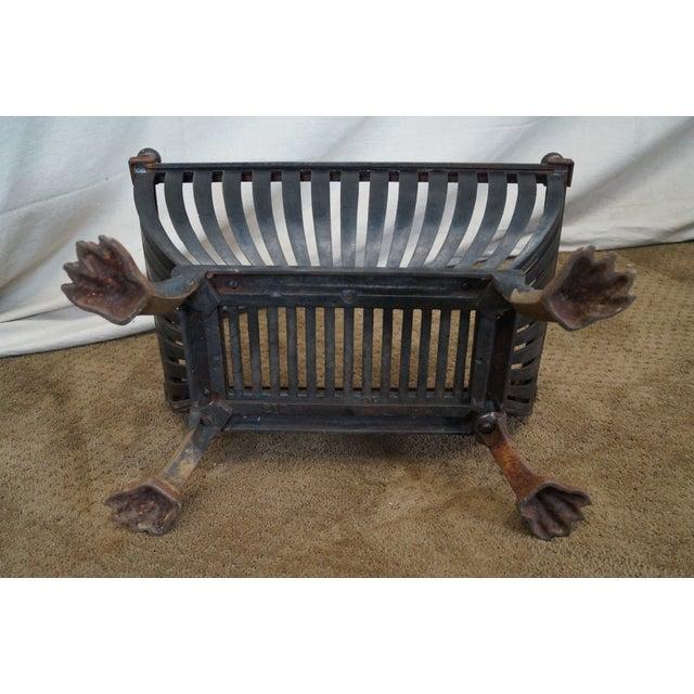 Antique Regency Clawfoot Iron Fire Log Holder - Image 10 of 10