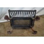 Image of Antique Regency Clawfoot Iron Fire Log Holder