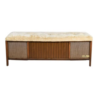 Mid Century Modern Magnavox Converted Bench