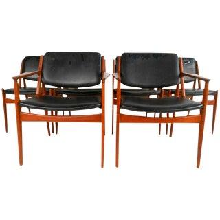 Arne Vodder Mid-Century Modern Tilt Back Dining Chairs - Set of 6