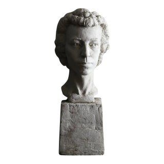 Large Raw Plaster Bust of Her Majesty Queen Elizabeth II