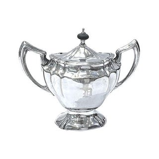 Antique Silver-Plated Monogrammed Creamer