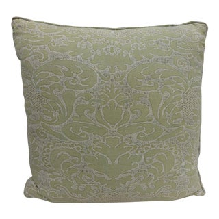 Ivory & Lime Green Fortuny Textile Pillow