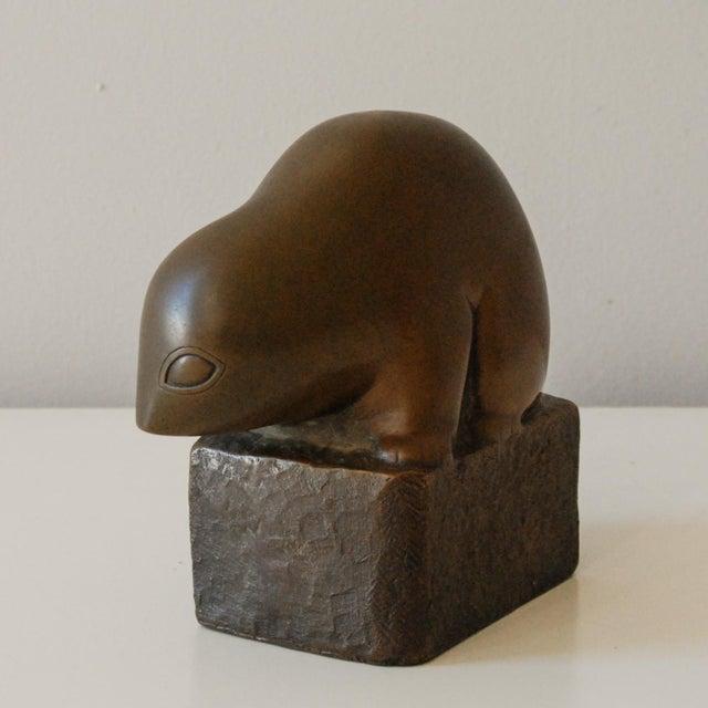 Circa 1940 Marian Weisberg Copper Stylized Lemur Sculpture