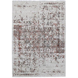 "Orange Distressed Rug - 5'3"" X 7'8''"