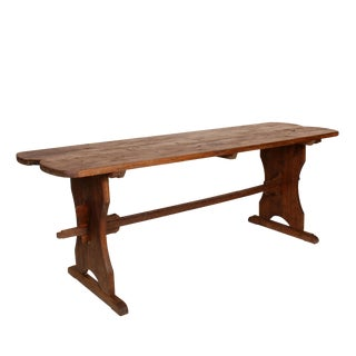 1900 Rustic Farmhouse Trestle Table