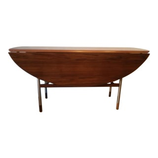 Mid-century Figured Walnut Drop Leaf Dining/Console Table c. 1960s