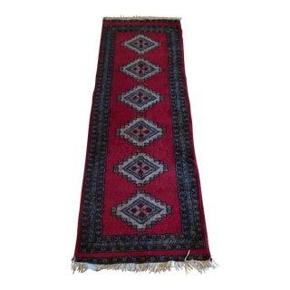 Vintage Wool Runner Rug - 2′ × 5′10″