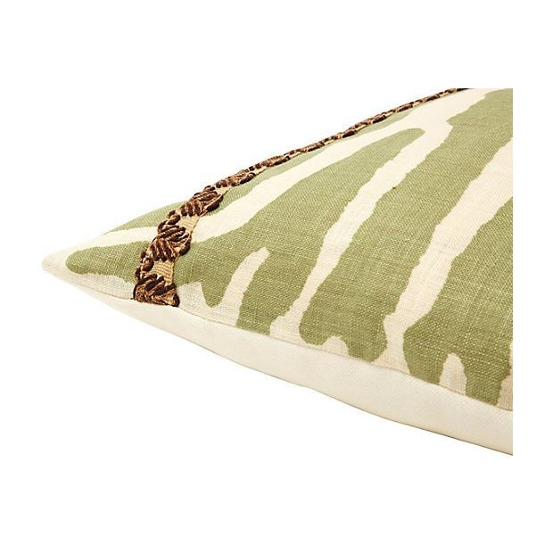 Green Zebra Print Travers Pillow - Image 2 of 2