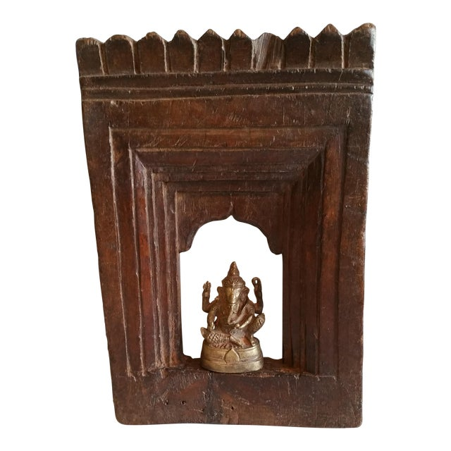 19th Century Carved Wood Shrine - Image 1 of 5