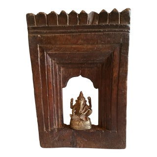 19th Century Carved Wood Shrine