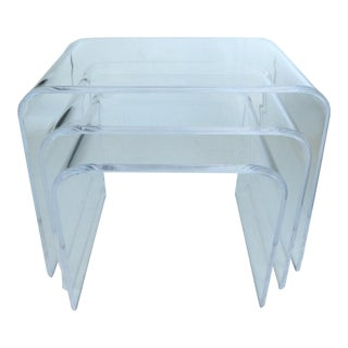 Lucite Stacking Tables - Set of 3