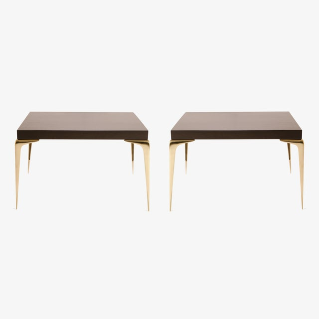 Customizable Colette Occasional Tables in Ebony by Montage, Pair - Image 2 of 7