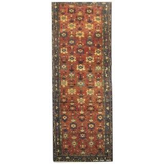 """Vintage Persian Saveh Runner Rug - 3'9"""" x 15'"""