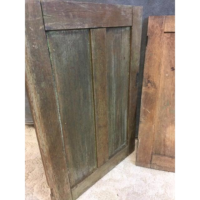 Vintage Rustic Wood Cabinet Doors - A Pair - Image 8 of 11