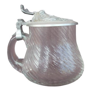 Glass & Pewter Tankard