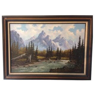 Oil Landscape by William Harisch