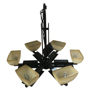 Minka Lineage Collection Wide Six Light Chandelier