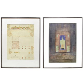 Set of Two Framed Architectural Presentation Renderings