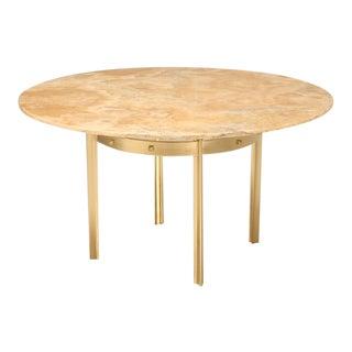Custom Made Modern Brass & Onyx Dining Table