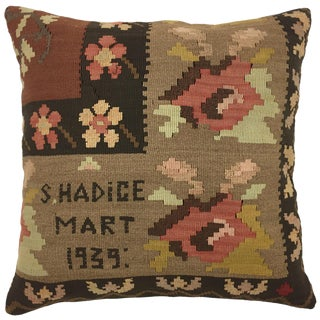 Dated 1939 Kilim Pillow | 20""