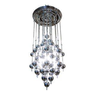 Verner Panton Metallic Ball Chandelier