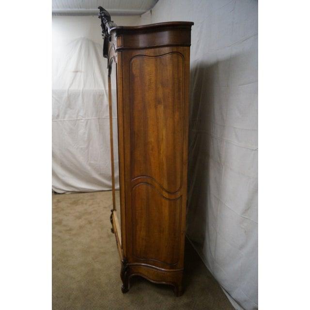 Antique 19th Century Louis XV Walnut Curio Cabinet - Image 3 of 10