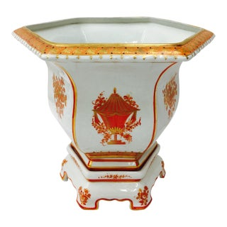Antique Chinoiserie Jardiniere Cache Pot
