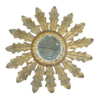Gilt Iron Mirror in the Form of Sunburst