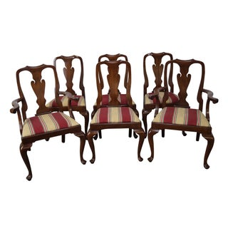 Henkel Harris Queen Anne Style Dining Chairs - Set of 6
