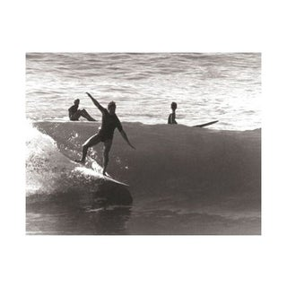 Black & White Vintage Surfer Photo VIII