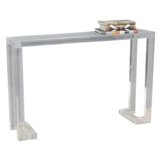 Acrylic and Glass Console Table