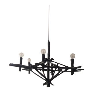 Gauze Wrapped Bamboo Chandelier