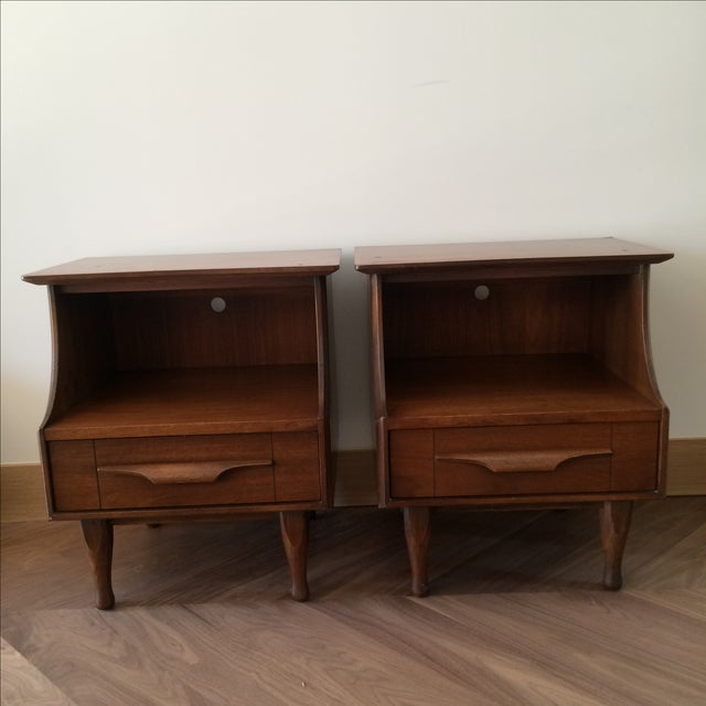 Image of Mid-Century Stepped Side Tables - A Pair