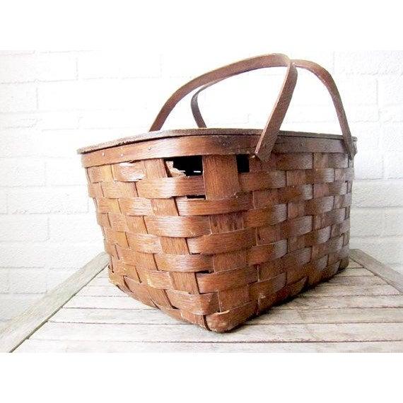 Picnic basket ireland : Vintage woven picnic basket chairish