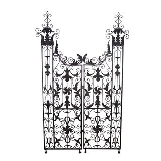 Maitland Smith Ornate Iron & Bronze Rococo Screen
