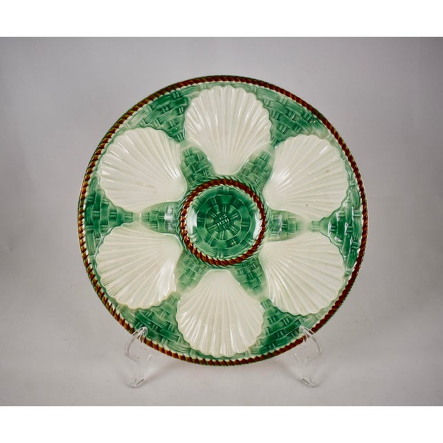 St. Clément French Basketweave & Rope Oyster Plate - Image 7 of 7