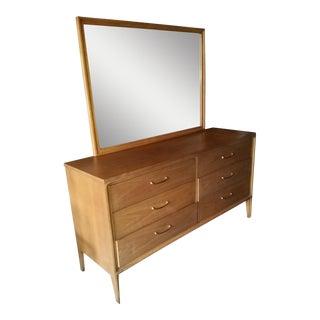 Broyhill Mid-Century Double Dresser & Mirror 2 Pc.