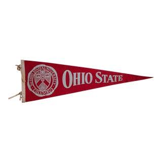 Vintage Ohio State University Felt Flag